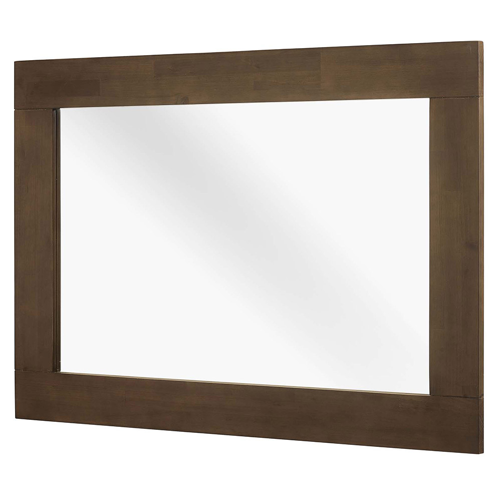 Most Recently Released Evers Wall Mirror Inside Walnut Wood Wall Mirrors (View 9 of 20)