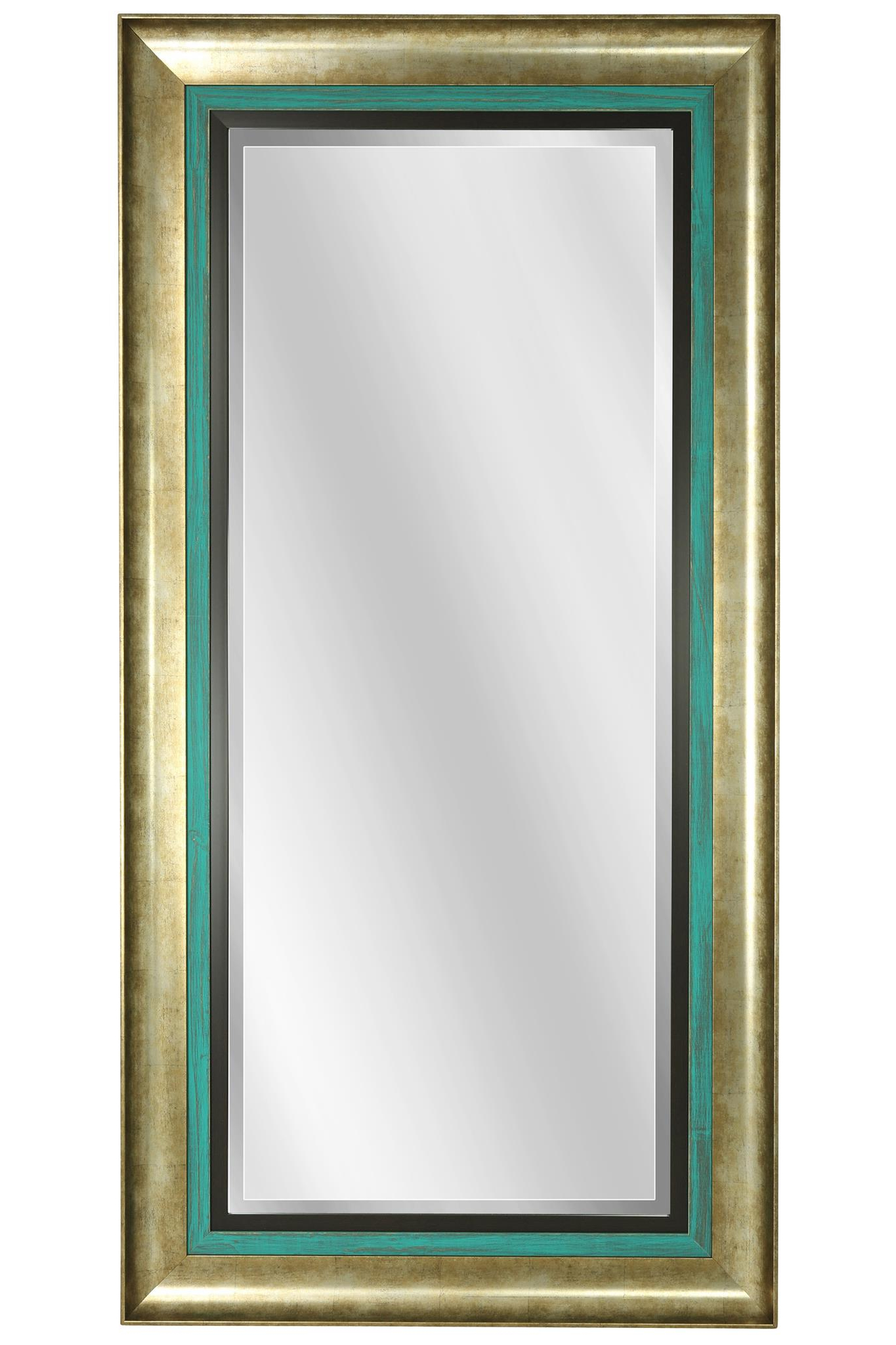 Most Recently Released Framed Wall Mirrors Throughout Gold And Turquoise Framed Wall Mirror (View 16 of 20)