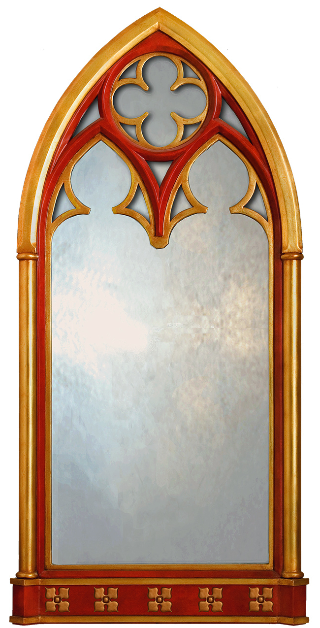 Most Recently Released Gothic Window Mirror – Large Gothic Mirror Uk – Gothic Wall Mirror Inside Gold Arch Wall Mirrors (View 12 of 20)