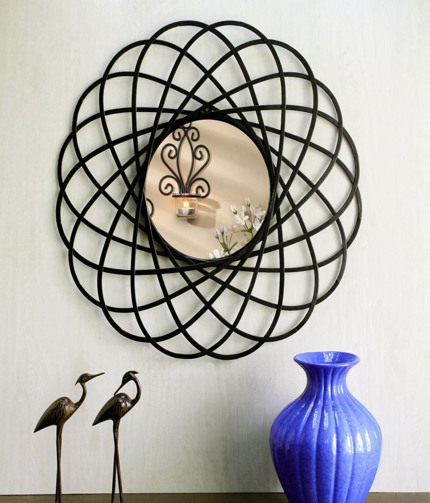 Most Recently Released Hosley Decorative Circular Spiral Iron Wall Mirror Pertaining To Iron Wall Mirrors (Gallery 14 of 20)