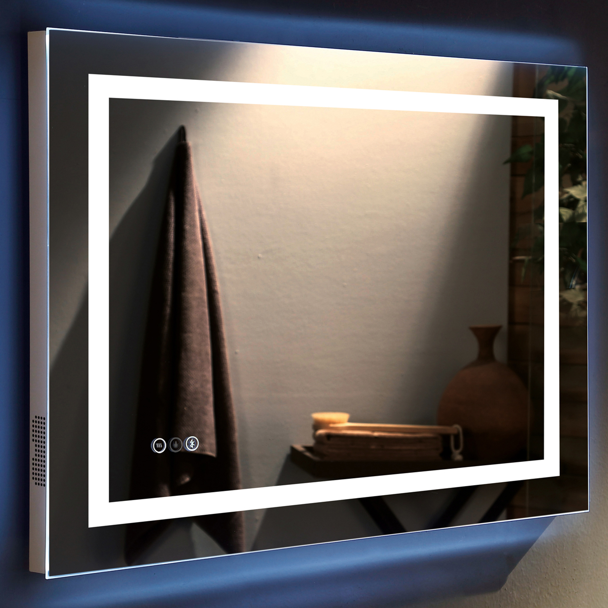 Most Recently Released Jantin Rectangular Led Wall Mirror For Led Wall Mirrors (View 2 of 20)