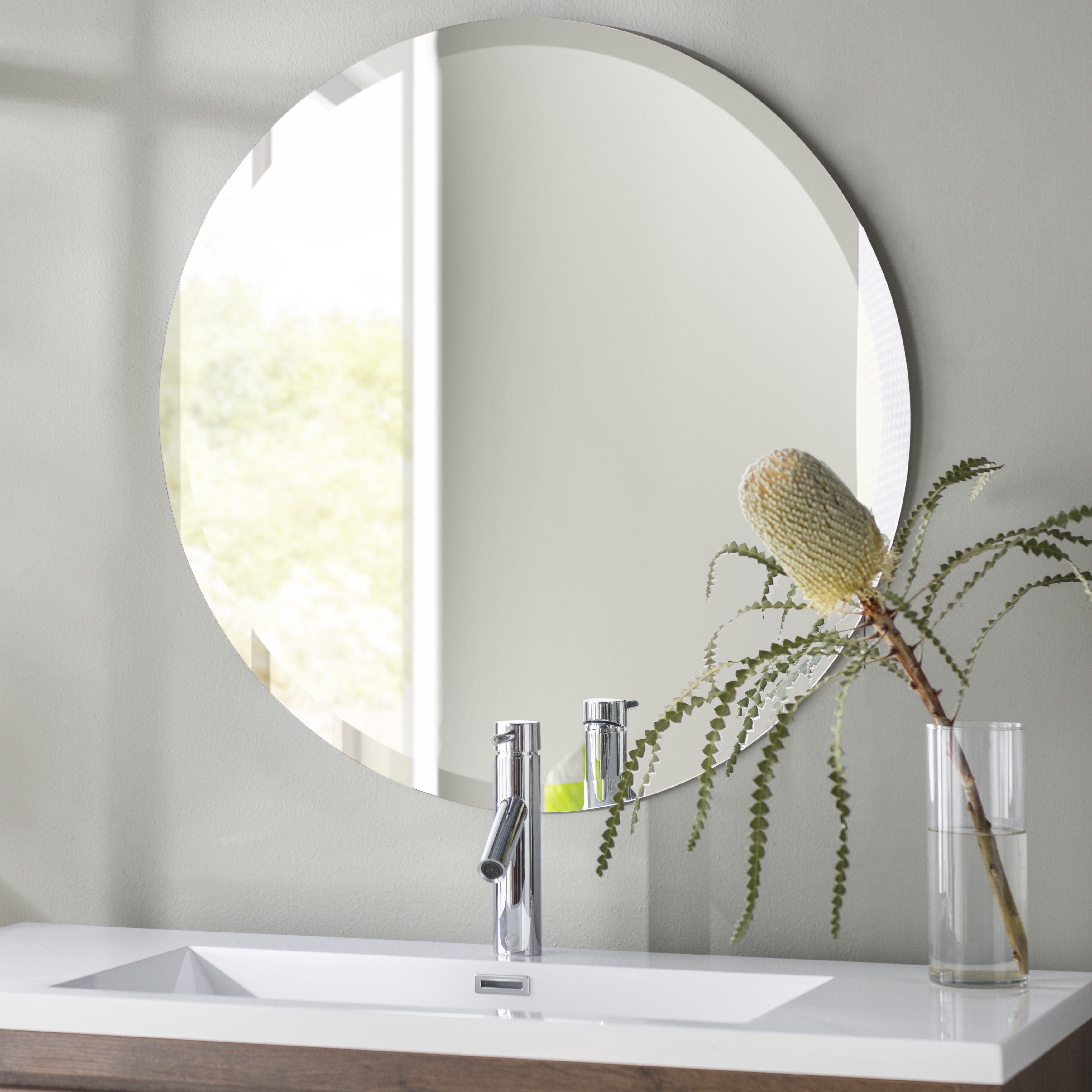 Most Recently Released Kayden Accent Mirrors Inside Valdosta Frameless Round Wall Mirror (View 17 of 20)