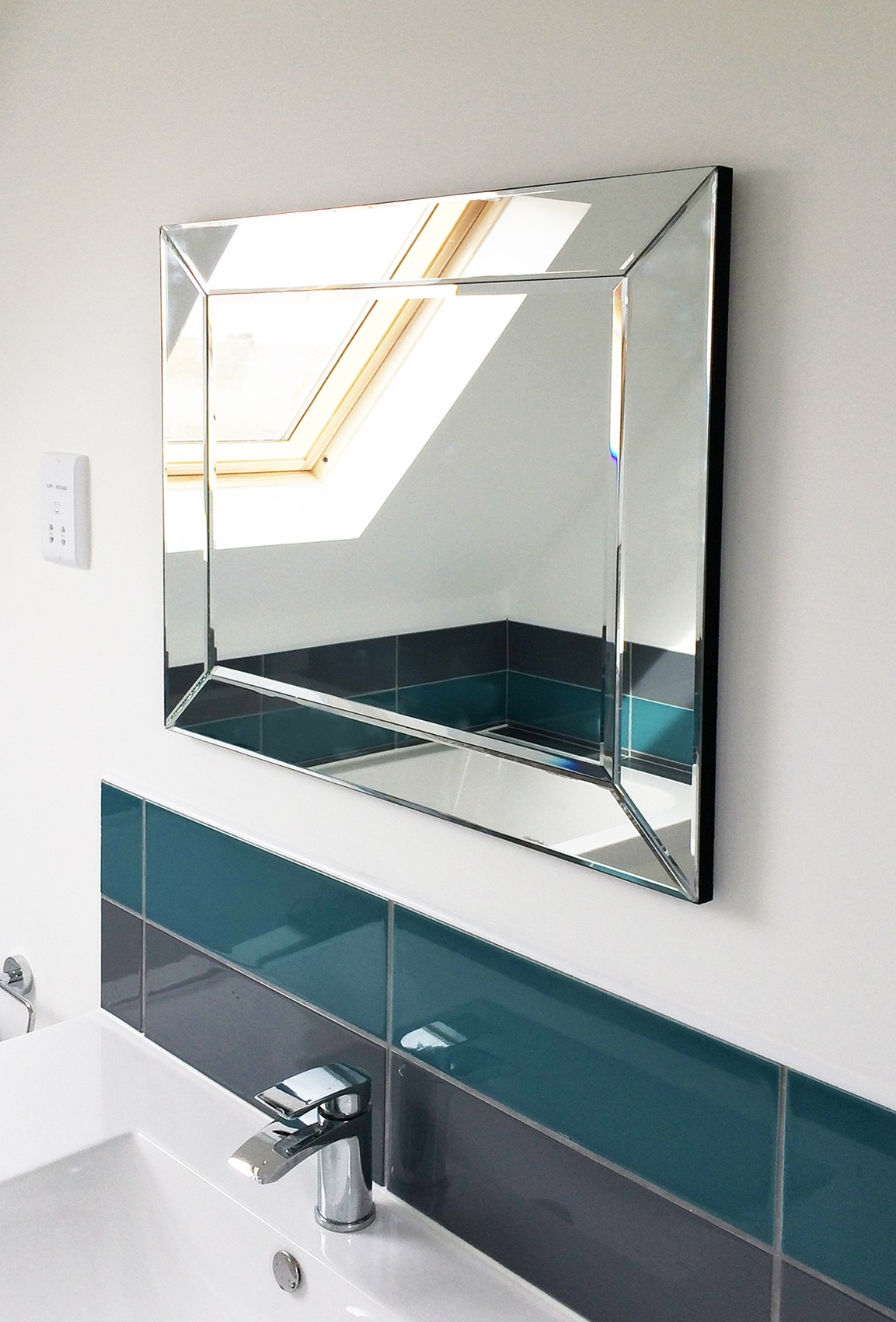 Most Recently Released Large Glass Bevelled Wall Mirrors With Regard To Newton Contemporary Frameless Mirror (6 Sizes) (View 12 of 20)