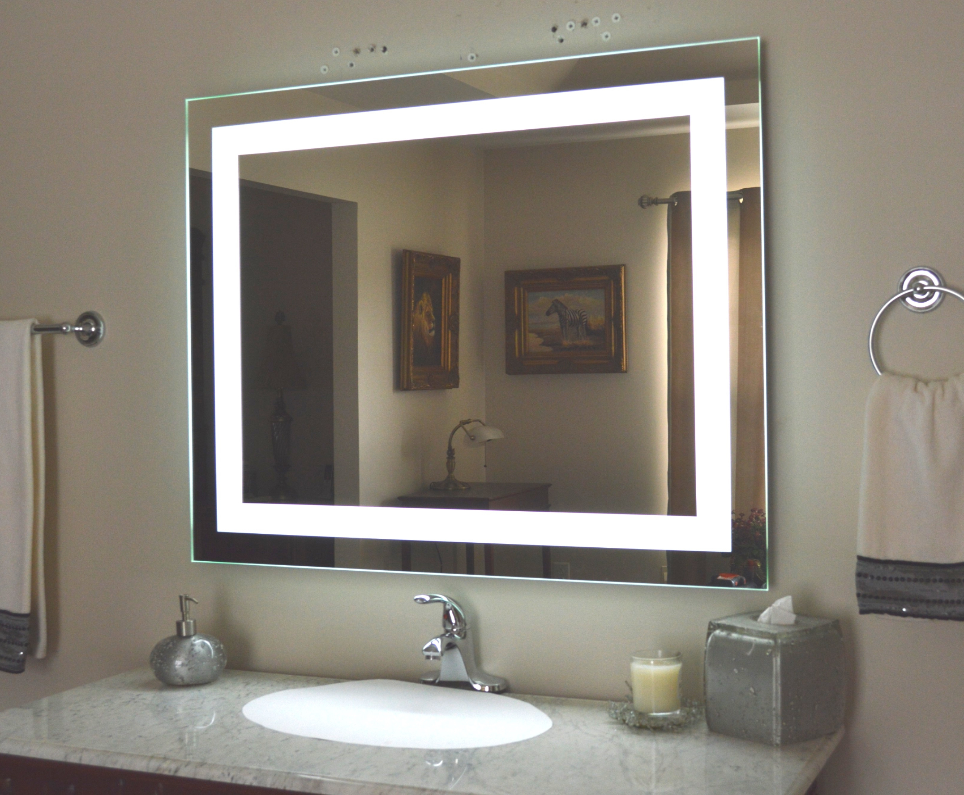 Most Recently Released Lighted Vanity Wall Mirrors Regarding Top 39 Magnificent Bathroom Mirror Lighted Vanity Wall Mounted Make (View 3 of 20)