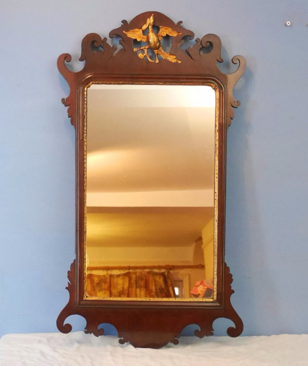 Most Recently Released Mahogany Wall Mirrors Inside Georgian Mahogany Hanging Wall Mirror (Gallery 10 of 20)