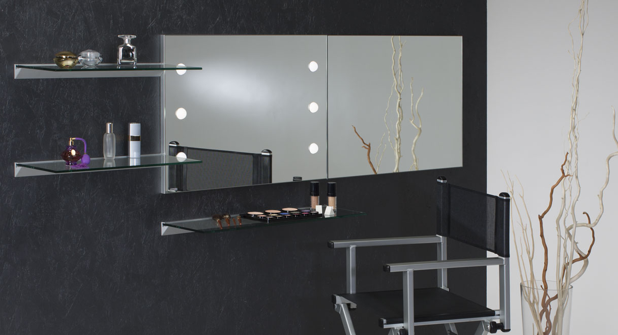 Most Recently Released Makeup Wall Mirrors With Regard To Makeup Wall Mounted Mirror With Lights Cantoni (Gallery 5 of 20)