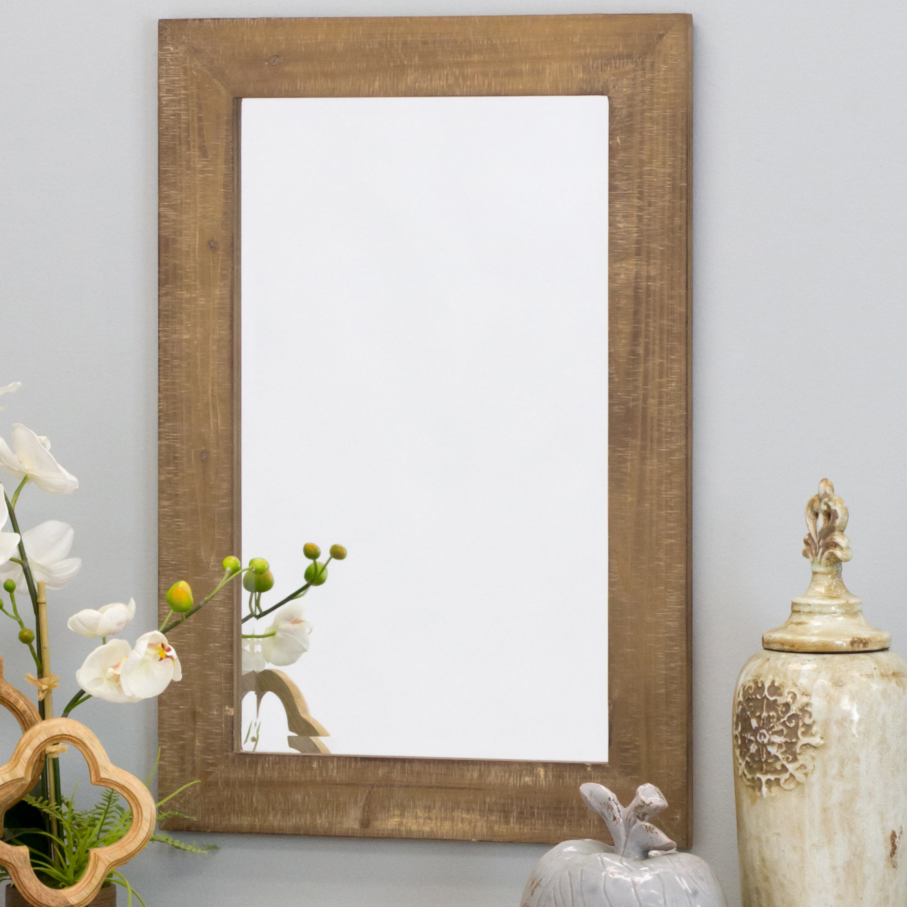 Most Recently Released Maude Accent Mirrors In Union Rustic Longwood Rustic Beveled Accent Mirror (View 12 of 20)