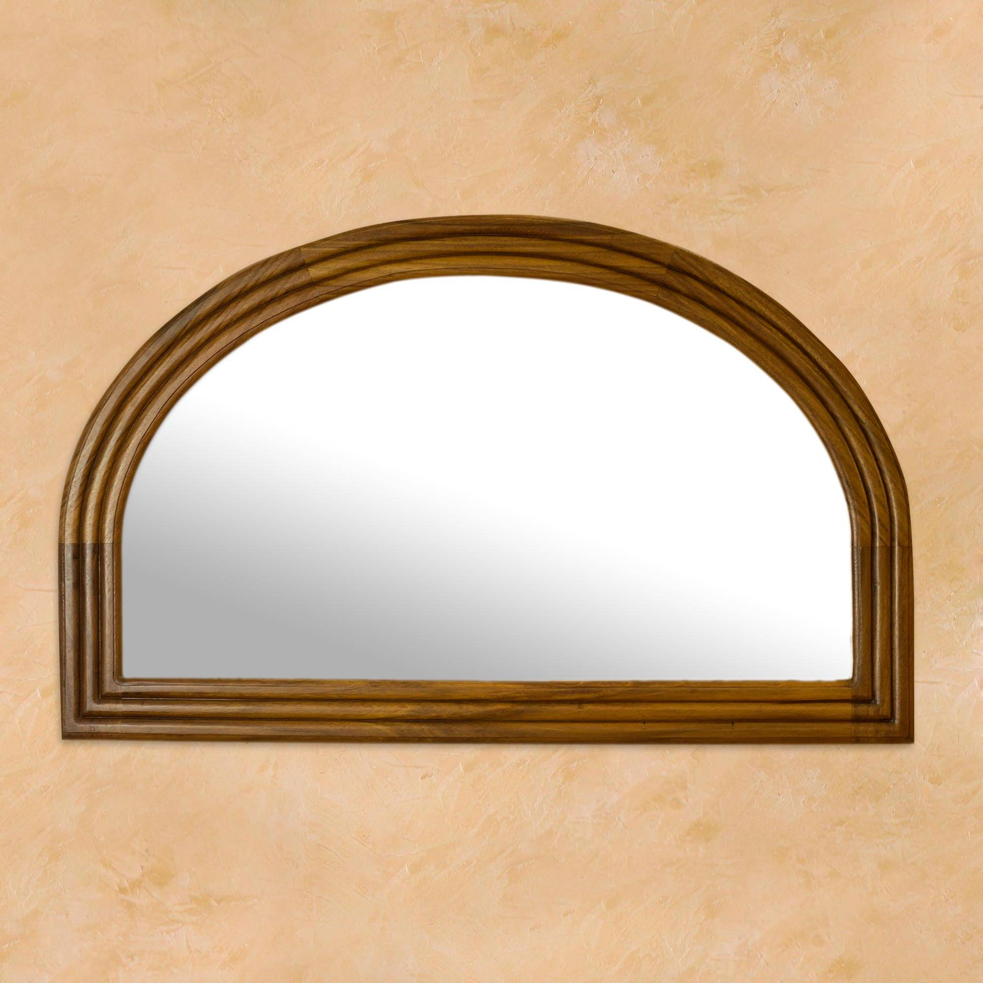 Most Recently Released Minimalist Mexican Hardwood Wall Mirror, 'mexican Dawn' Regarding Mexican Wall Mirrors (Gallery 17 of 20)
