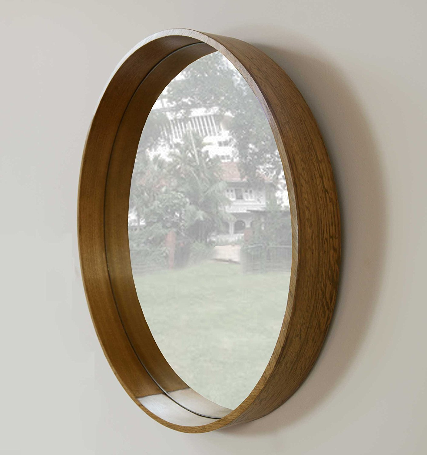 Most Recently Released My Furniture Large Luxury Round Wall Mirror Wooden Circle 6 With Regard To Large Wooden Wall Mirrors (View 20 of 20)