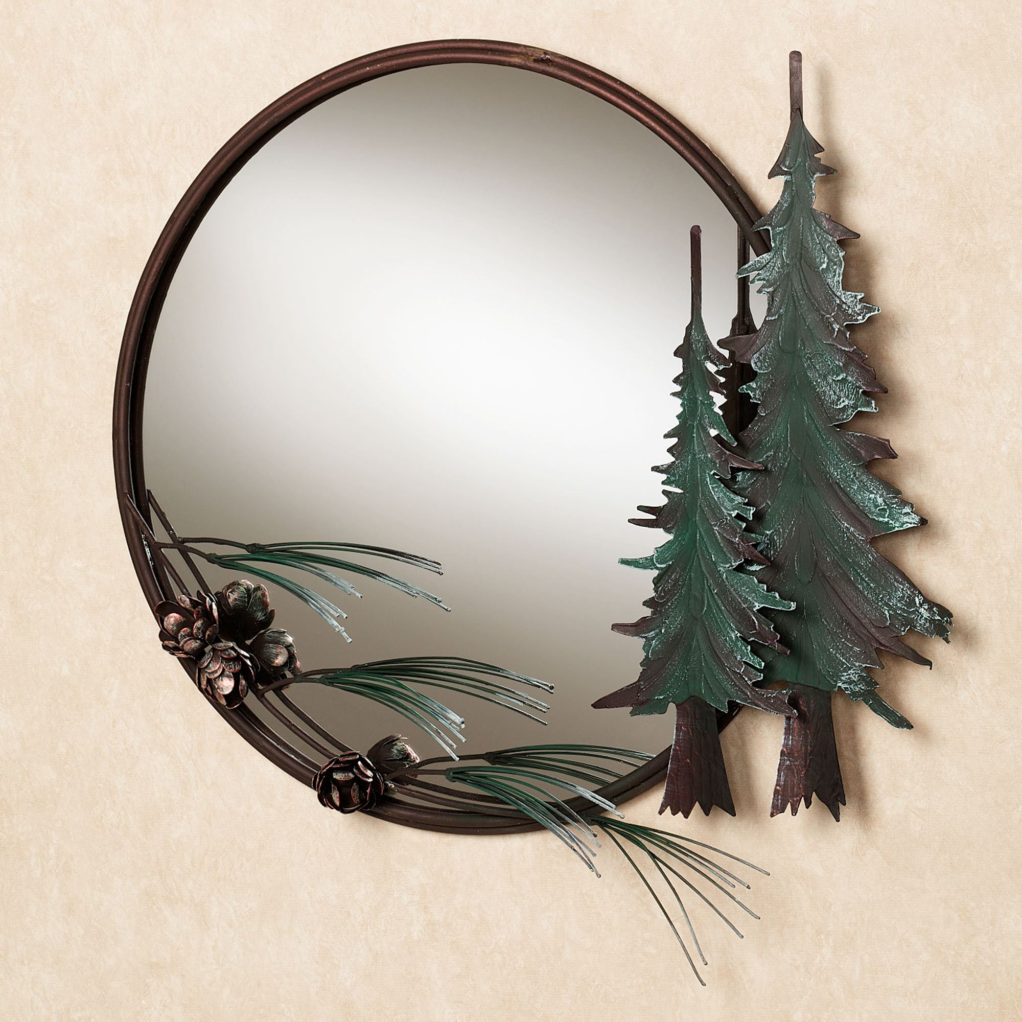 Most Recently Released Pine Tree Round Wall Mirror With Pine Wall Mirrors (View 10 of 20)