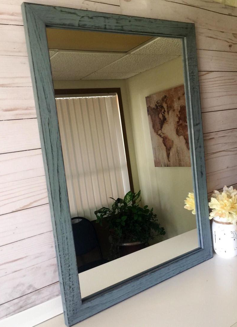 Most Recently Released Rustic Wall Mirrors Intended For Rustic Wall Mirror Wooden Mirrors Wood Mirrors Farmhouse Mirrors Wooden Rustic Mirror Wall Framed Mirrors Rustic Farmhouse Mirror (View 10 of 20)