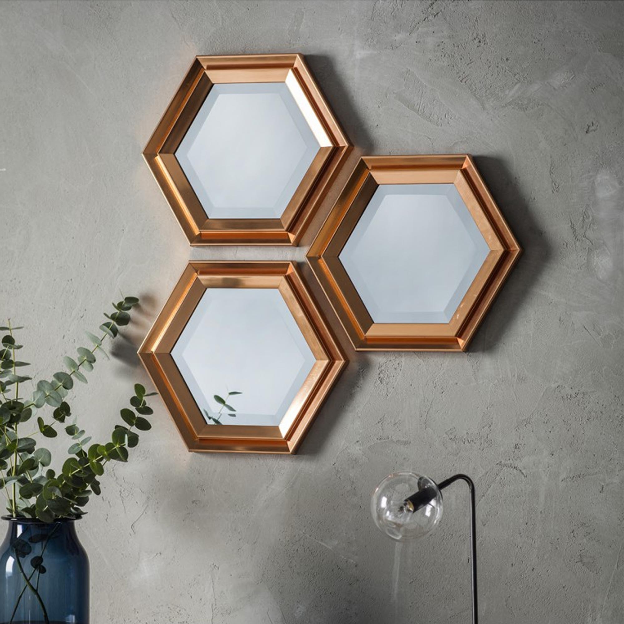 Most Recently Released Set Of Wall Mirrors Throughout Fawkner Set Of 3 Wall Mirrors (View 8 of 20)