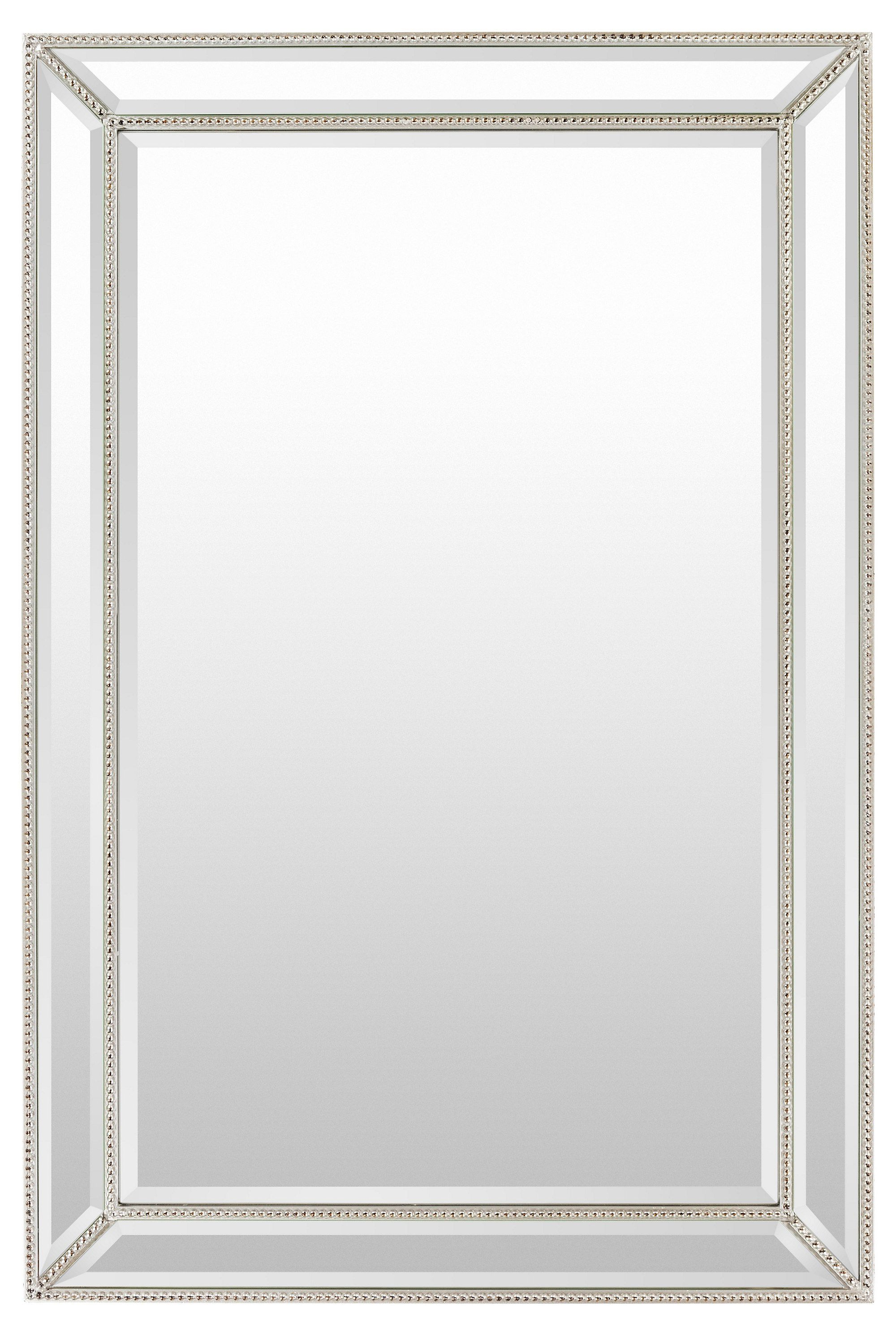 Most Recently Released Silver Frame Accent Mirrors In Beveled Glass Mirror, Silver In (View 11 of 20)