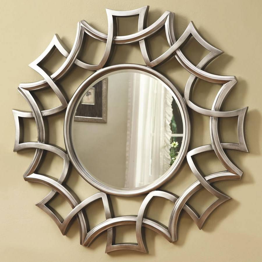 Most Recently Released Silver Wall Mirror Plan — Admas Furniture Design : Awesome Silver With Regard To Silver Frame Accent Mirrors (View 8 of 20)