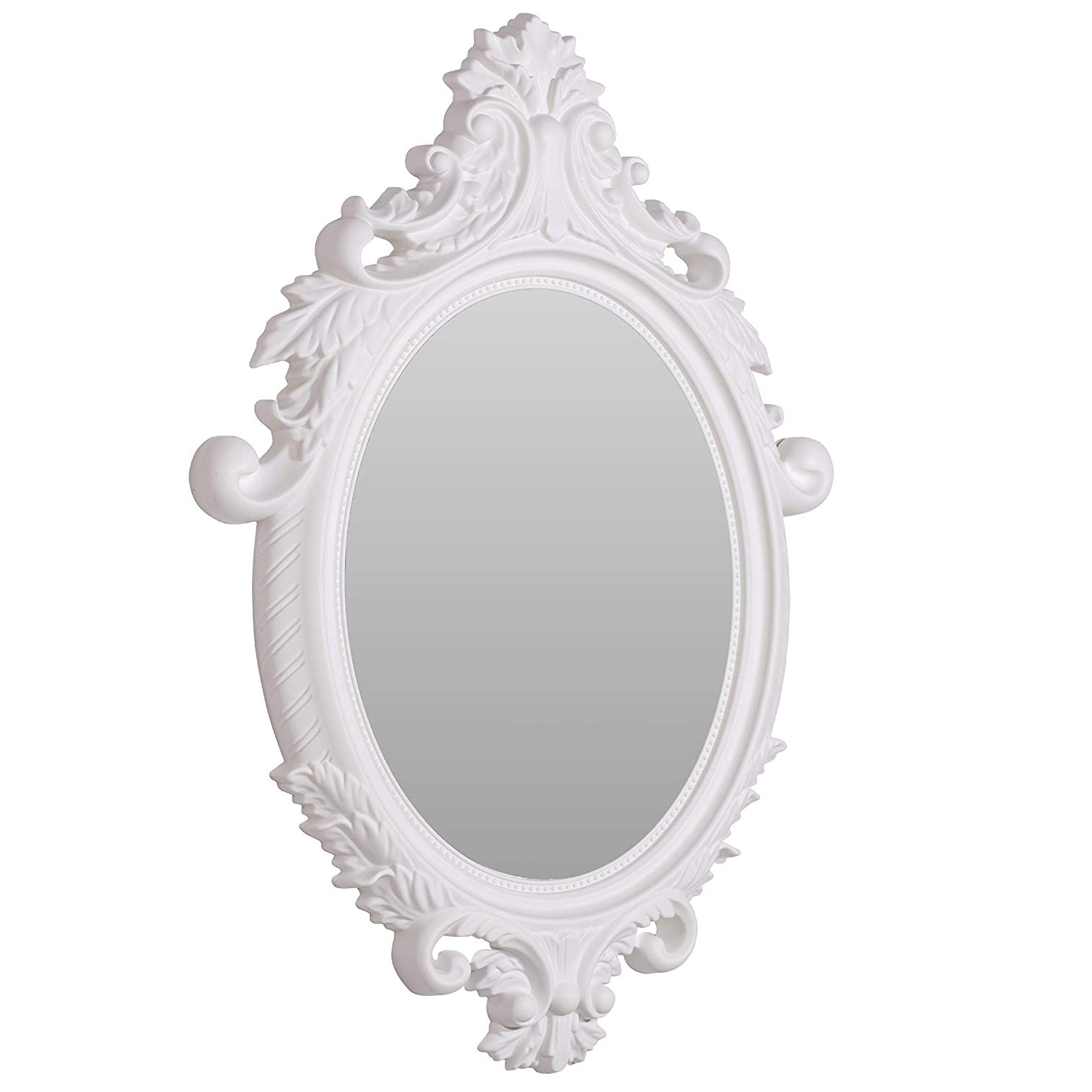 Most Recently Released Small White Wall Mirrors For Amazon: Aufora Louie Mountable Wall Mirror Small, White, (View 8 of 20)