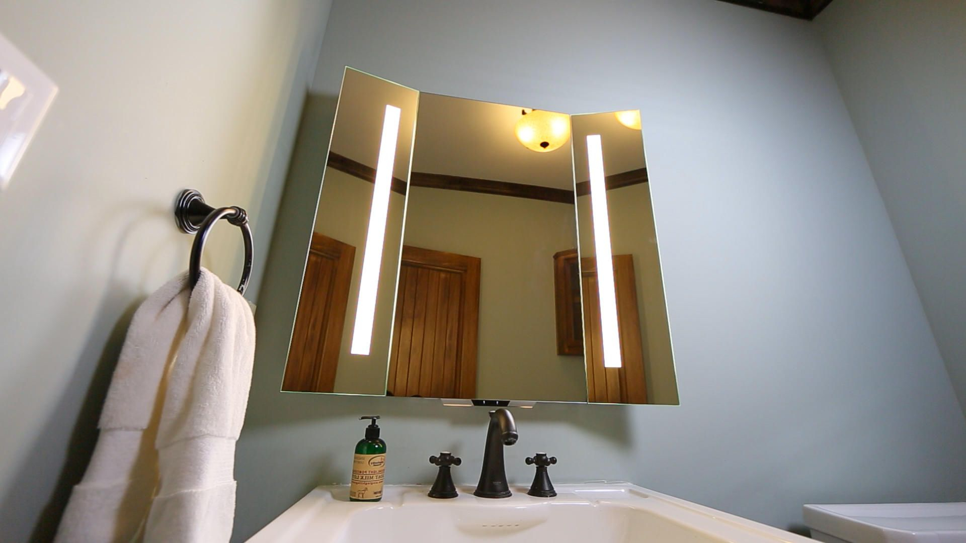Most Recently Released Tri Fold Bathroom Wall Mirrors Pertaining To Kohler Put Alexa In Its Newest Bathroom Mirror (View 6 of 20)