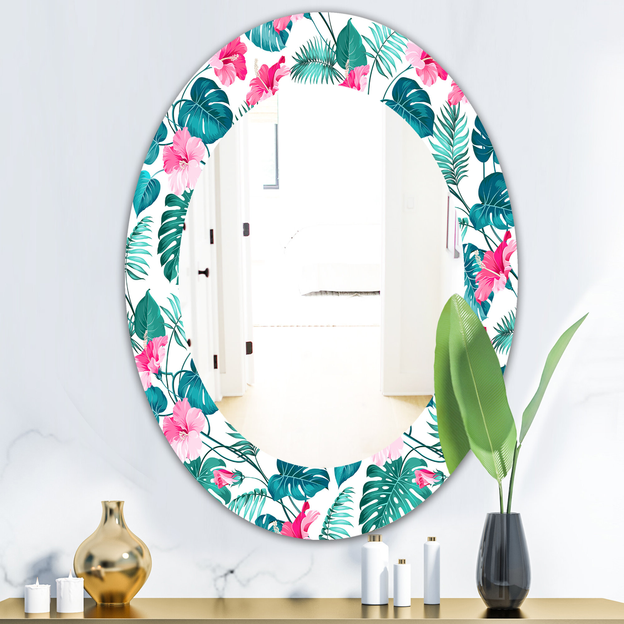 Most Recently Released Tropical Wall Mirrors Throughout Tropical Mood Foliage 20 Bohemian And Eclectic Wall Mirror (View 8 of 20)