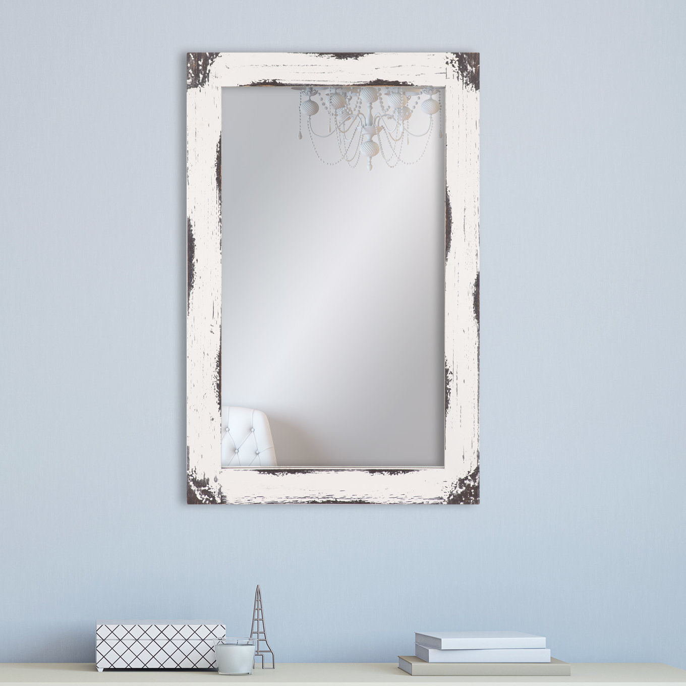 Most Recently Released Tryphena Distressed Reclaimed Wall Mounted Mirror In Epinal Shabby Elegance Wall Mirrors (View 20 of 20)