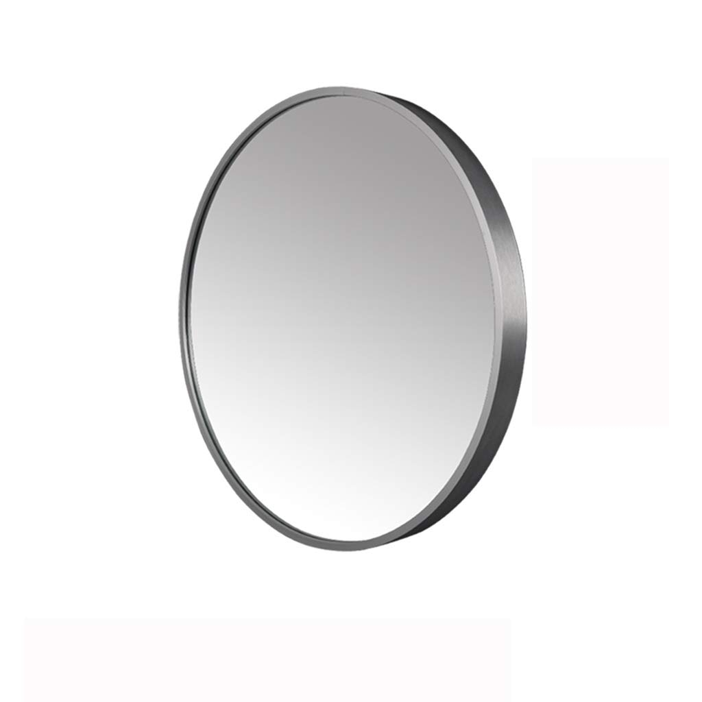 Most Recently Released Vertical Round Wall Mirrors For Amazon: Contemporary Brushed Metal Wall Mirror (View 12 of 20)