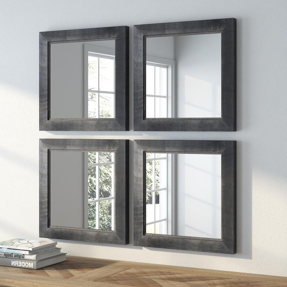Most Recently Released Wall Mirror Sets Of 4 Within 16.5 In. X 16.5 In (View 3 of 20)