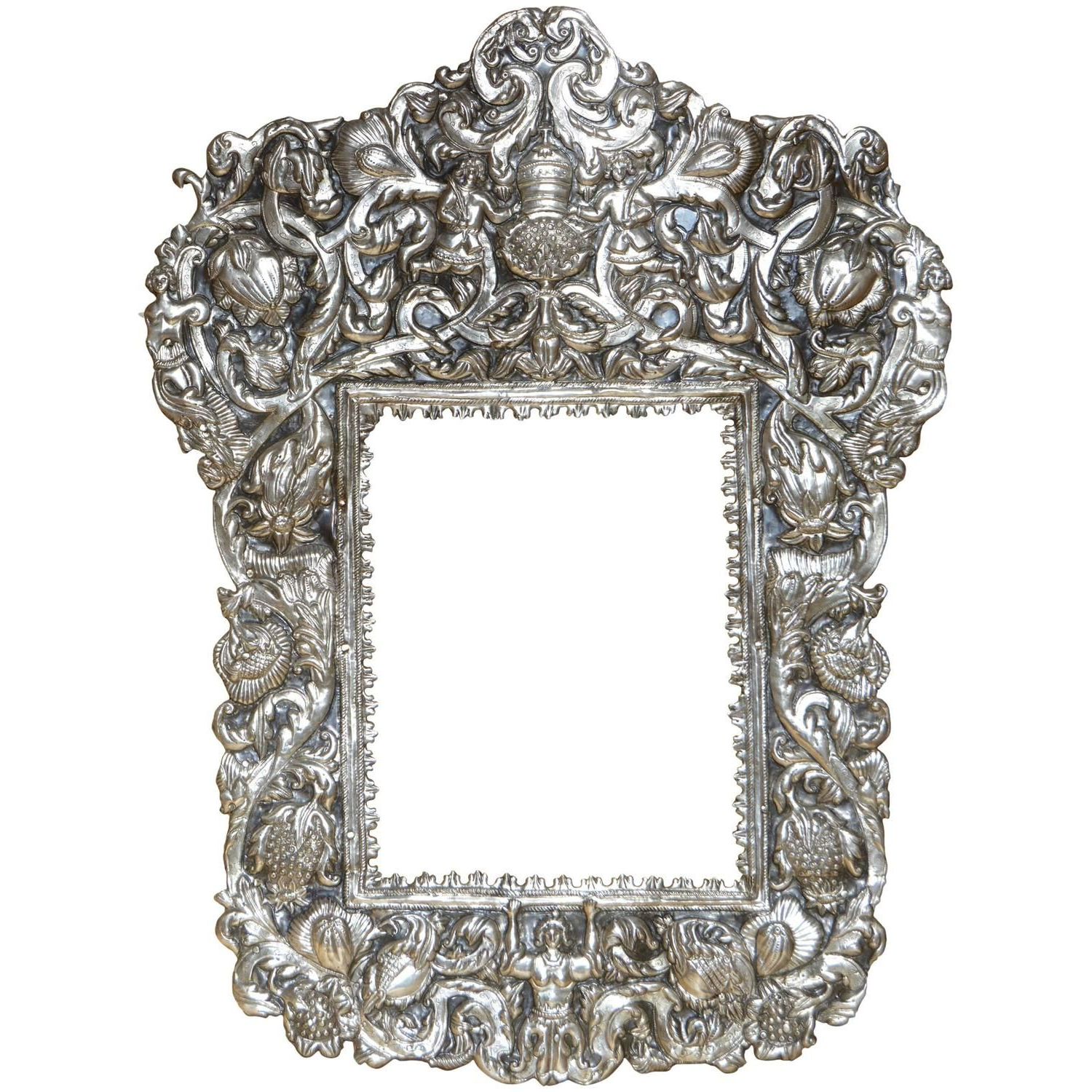 Most Up To Date 18Th Century Spanish Colonial Silver Repoussé Grotesque Style Mirror Throughout Marion Wall Mirrors (View 17 of 20)