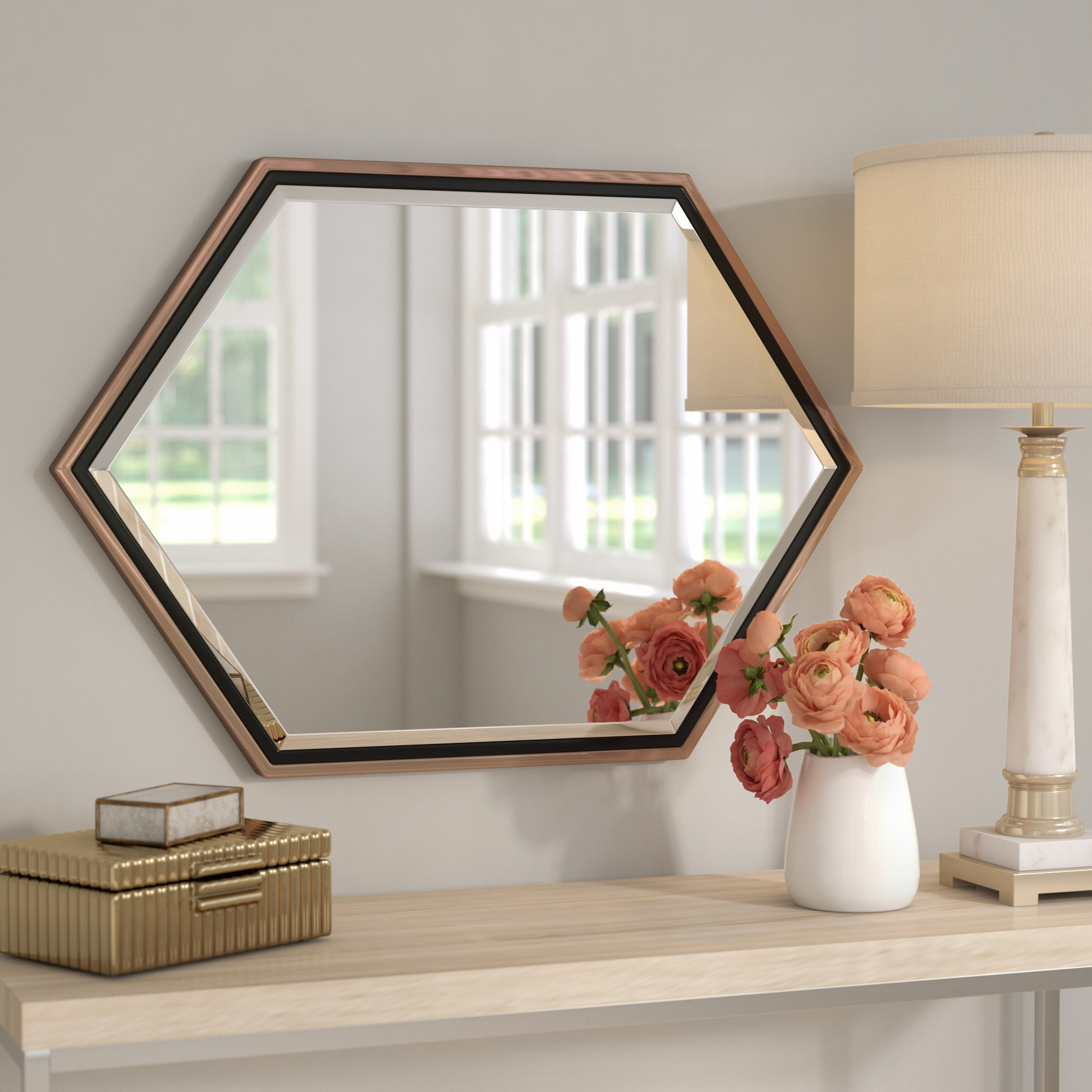 Most Up To Date Accent Wall Mirrors Pertaining To Contemporary Metal Frame Accent Wall Mirror (View 16 of 20)