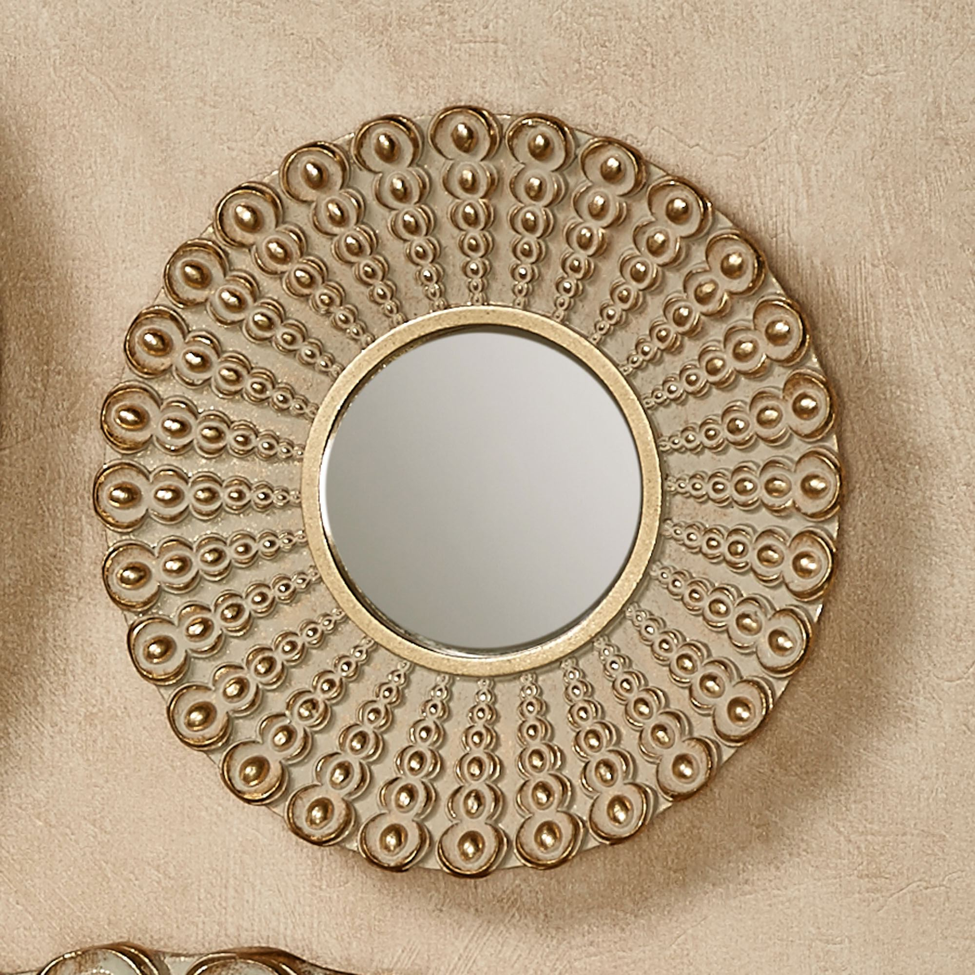 Most Up To Date Alexander Beaded Round Wall Decor Within Small Round Wall Mirrors (View 14 of 20)