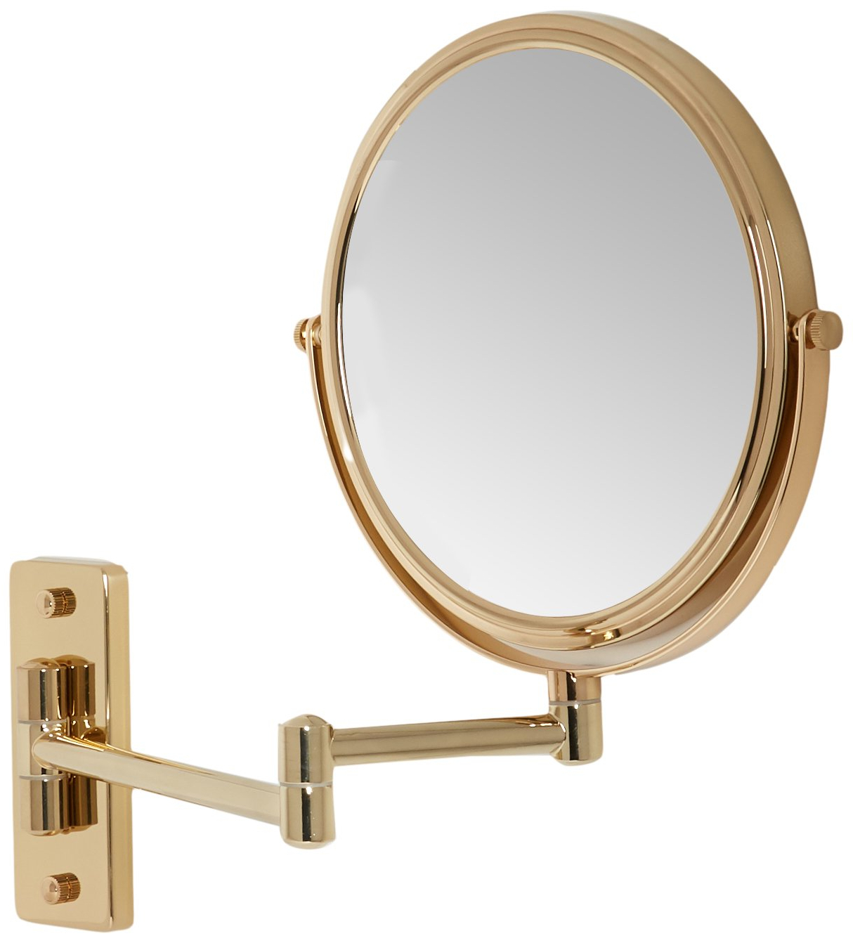 Most Up To Date Amazon: Mirror Image Double Arm Wall Mirror Rose Gold: Home Inside Extension Arm Wall Mirrors (View 18 of 20)