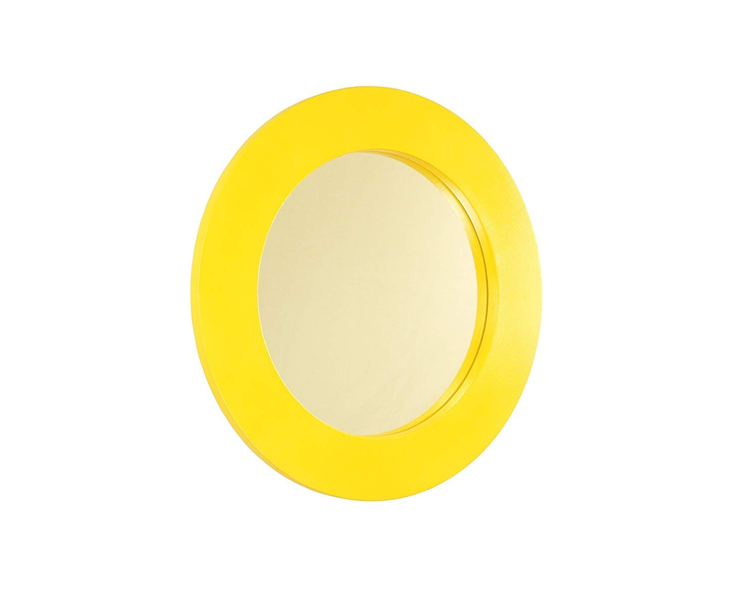 """Most Up To Date Amazon: Yellow Round Simplistic Wall Mirror (18"""" Diameter)  Pertaining To Yellow Wall Mirrors (View 9 of 20)"""