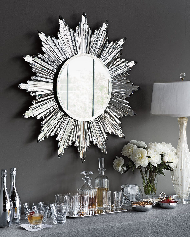 Most Up To Date Baccarat Sunburst Mirror Inspiredthe Sun Clock Designed Within Josephson Starburst Glam Beveled Accent Wall Mirrors (Gallery 16 of 20)
