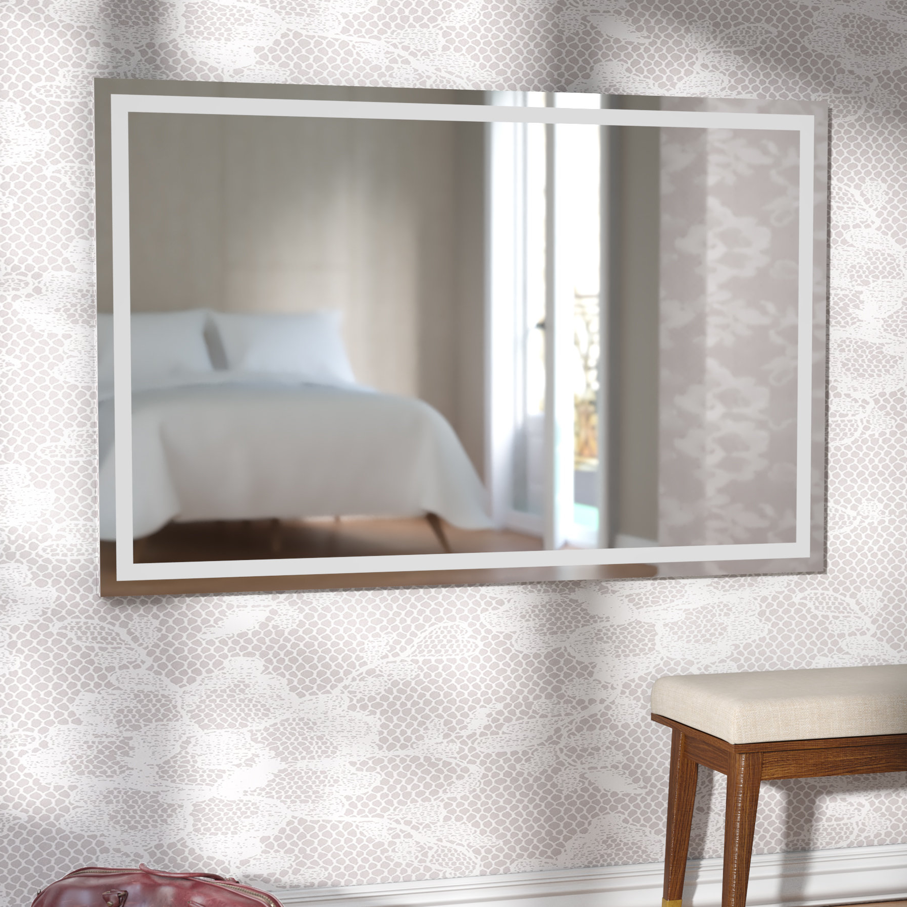 Most Up To Date Bedroom Wall Mirrors For Aluminum Frame Electric Wall Mirror (View 12 of 20)