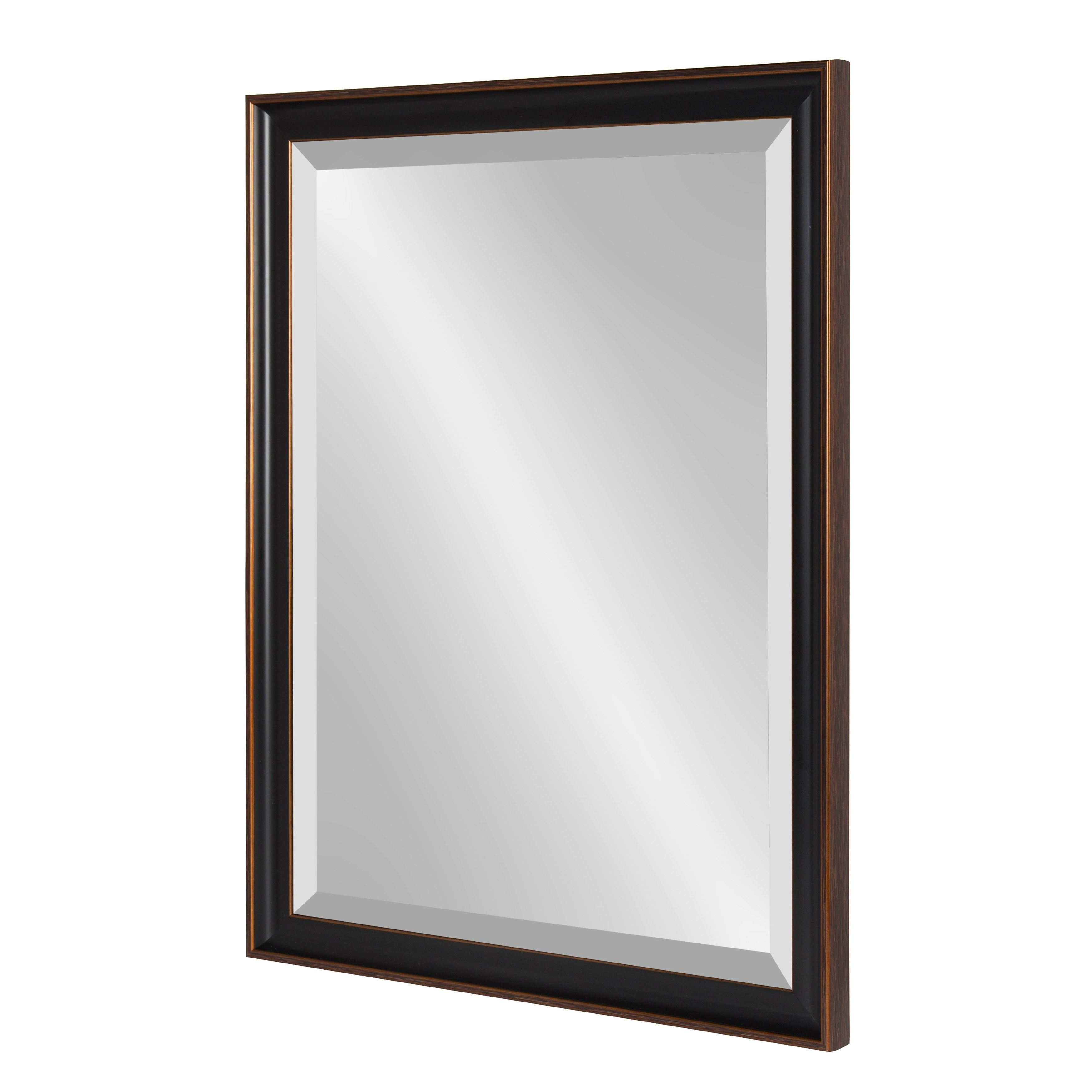 Most Up To Date Bracelet Traditional Accent Mirrors Regarding Kate And Laurel Havana Framed Beveled Wall Mirror – Antique Bronze (View 4 of 20)