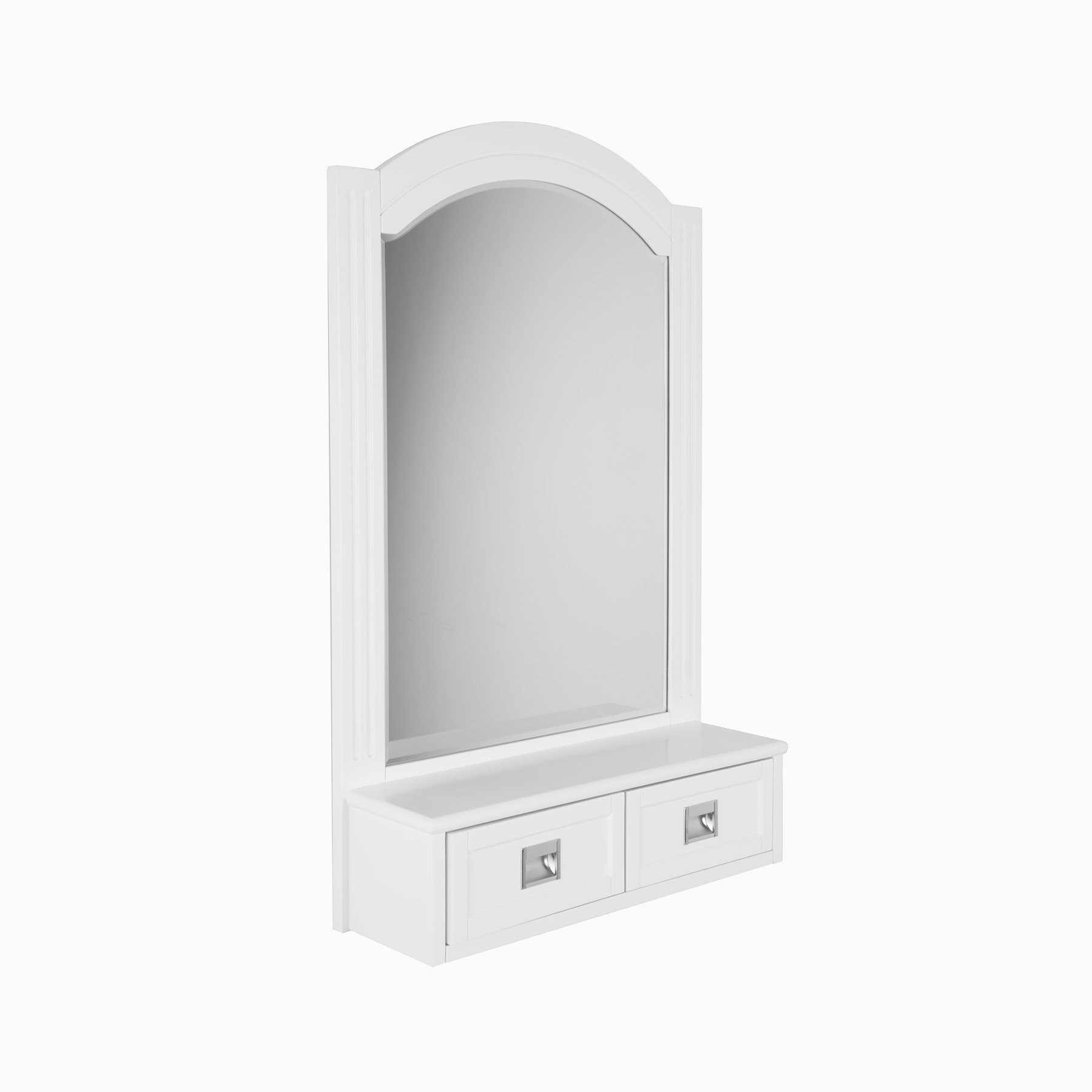 "Most Up To Date Burton 24"" W X 38"" H Framed Wall Mirror In White In White Framed Wall Mirrors (View 12 of 20)"