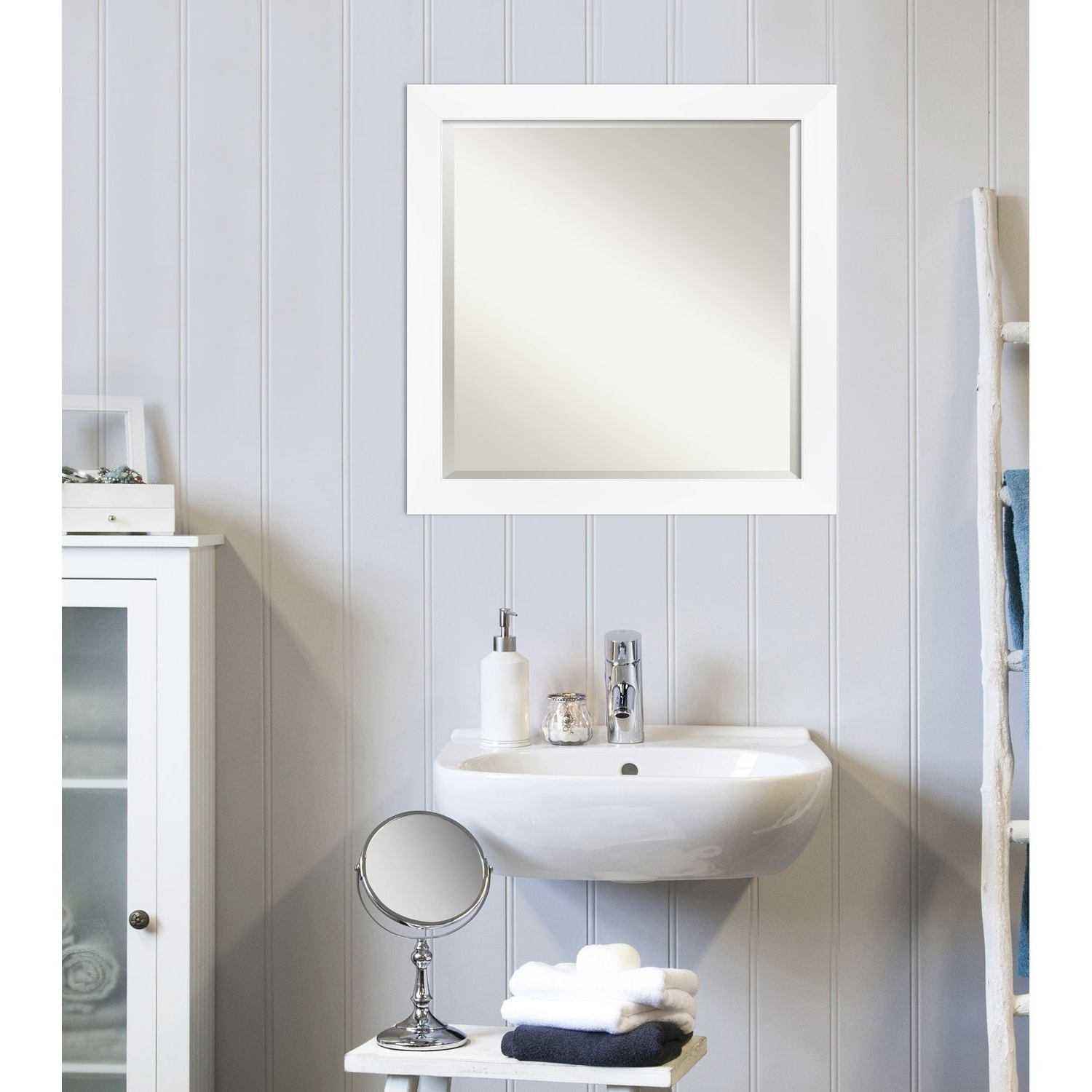 Most Up To Date Cabinet White Narrow Bathroom Vanity Wall Mirror Regarding Vanity Wall Mirrors For Bathroom (View 17 of 20)