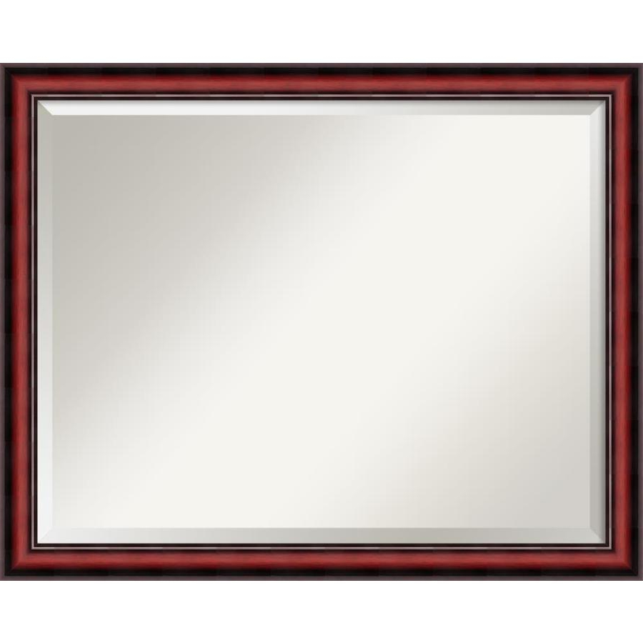 Most Up To Date Cherry Wall Mirrors With Regard To Amanti Art Rubino Cherry Scoop Beveled Wall Mirror At Lowes (View 14 of 20)