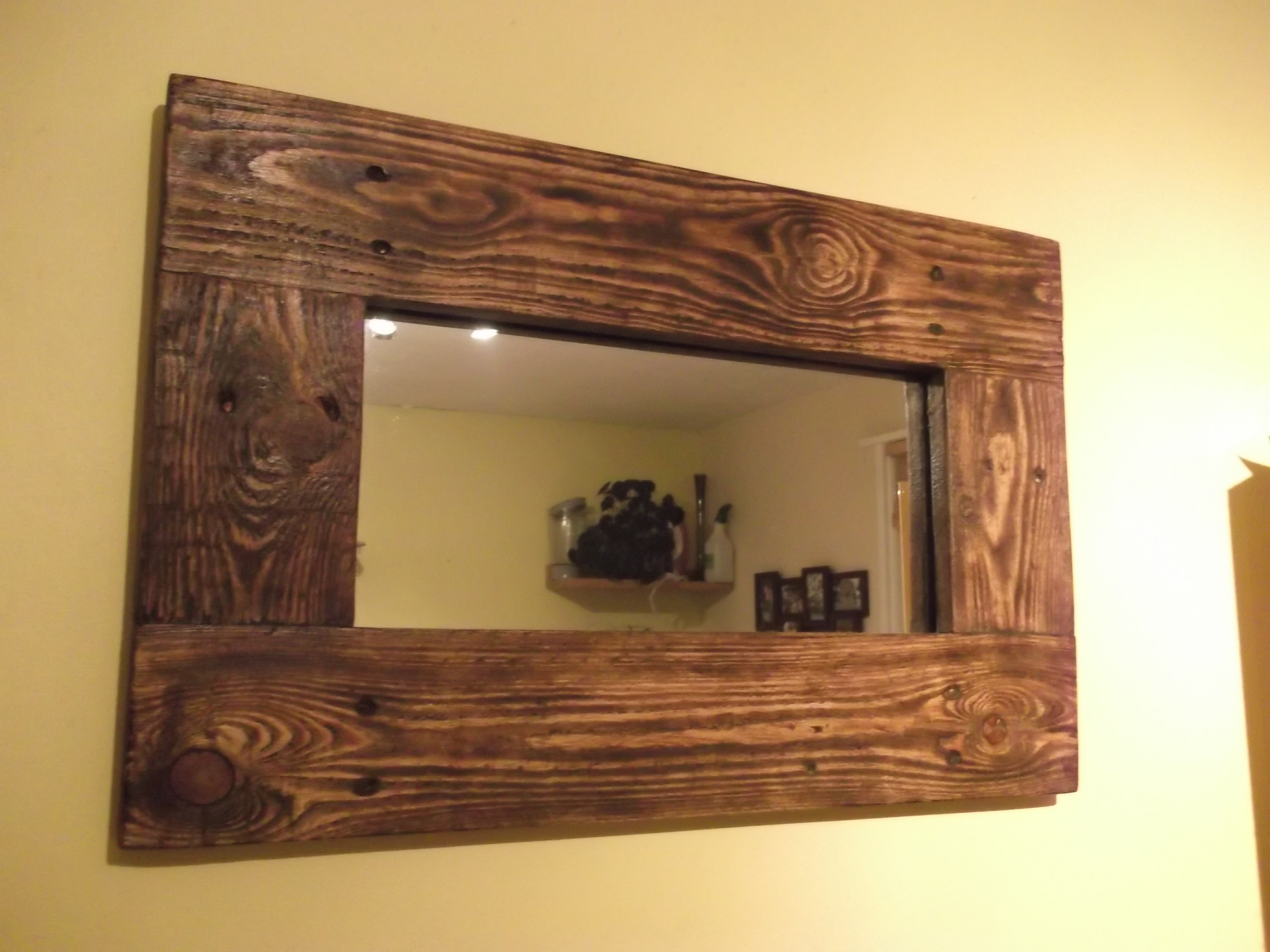Most Up To Date Cherry Wood Framed Wall Mirrors With Wood Framed Mirrors Sleek And Stylish In Decors Distressed Mirror (View 8 of 20)