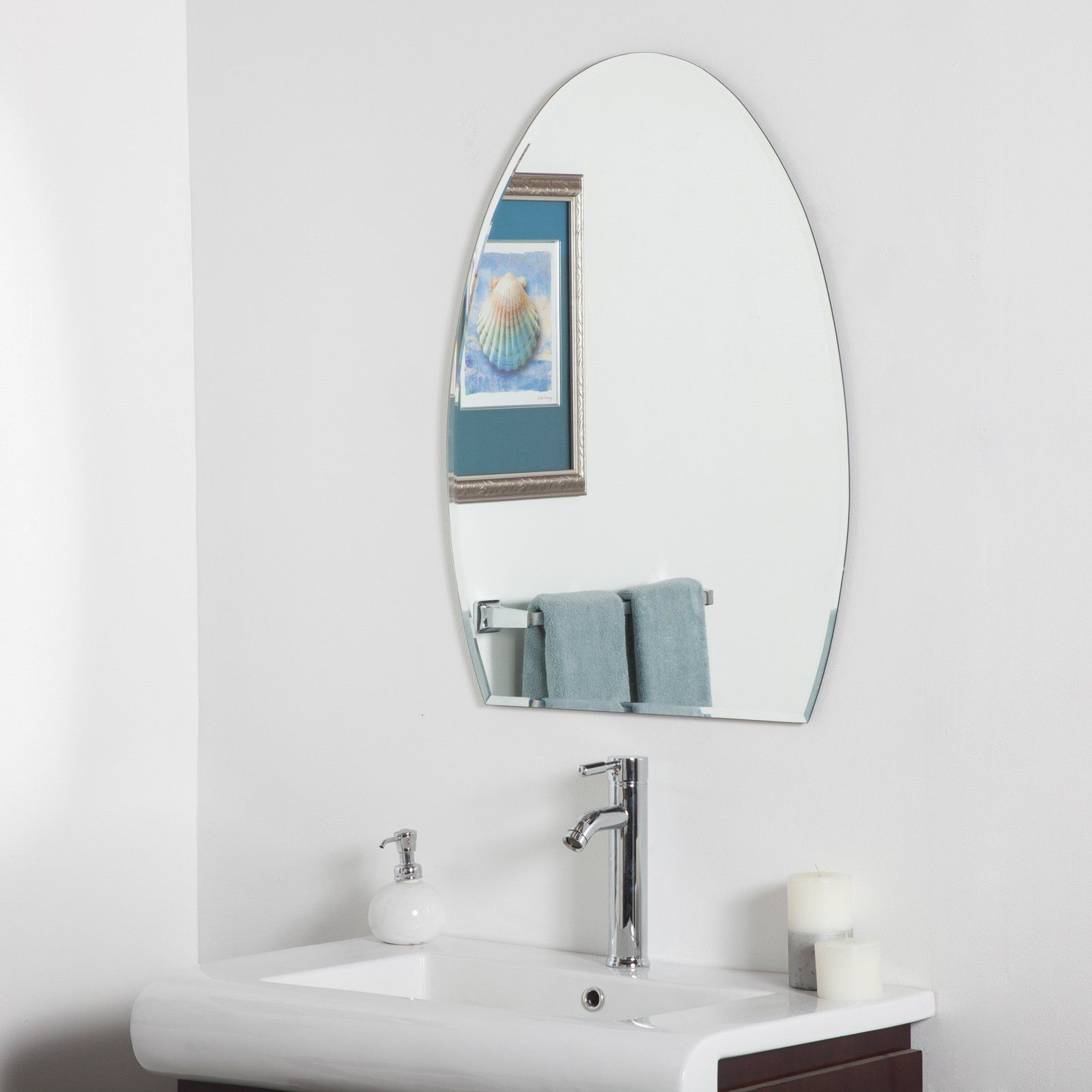 Most Up To Date Contemporary Bathroom Wall Mirrors Inside Sena Modern Bathroom Wall Mirror – 24w X 32h In (View 8 of 20)