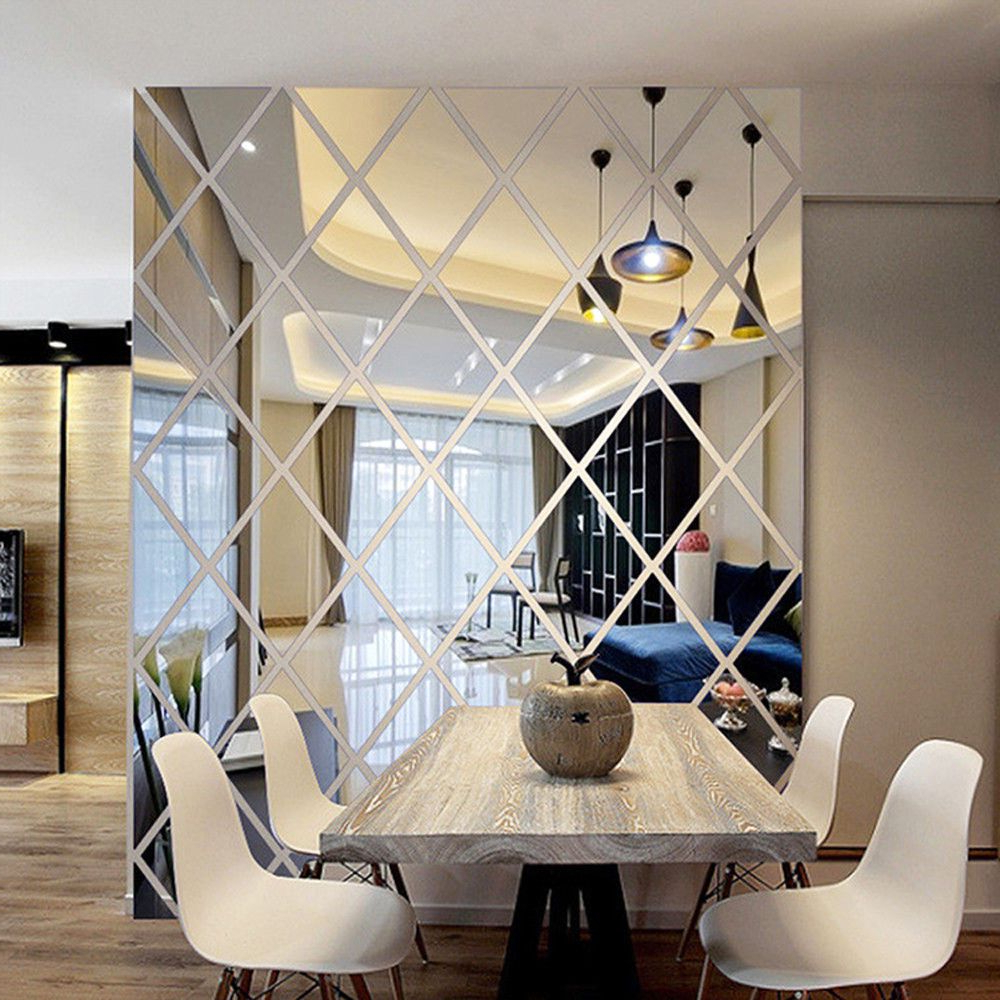 Most Up To Date Details About 3d Fashion Acrylic Mirror Diy Wall Home Decal Mural Pertaining To Bem Decorative Wall Mirrors (View 10 of 20)