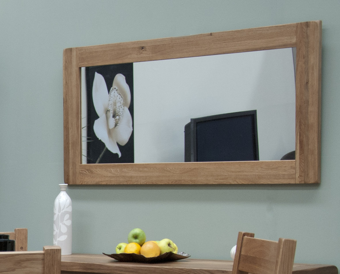 Most Up To Date Details About Brooklyn Solid Oak Hallway Living Room Furniture Large Wall  Mirror Inside Oak Wall Mirrors (View 6 of 20)