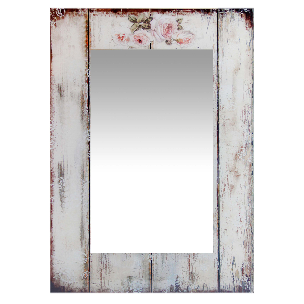 Most Up To Date Details About Shabby Chic Picket Fence Large Rectangular Home Decorative  Wall Mirror  (View 14 of 20)