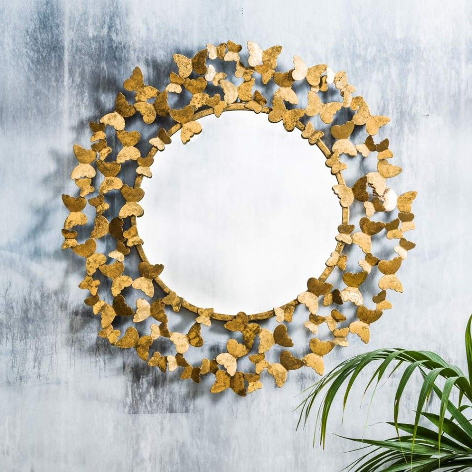 Most Up To Date Gold Butterfly Mirror – Large, Graham & Green #metallics #gold With Regard To Butterfly Wall Mirrors (View 9 of 20)
