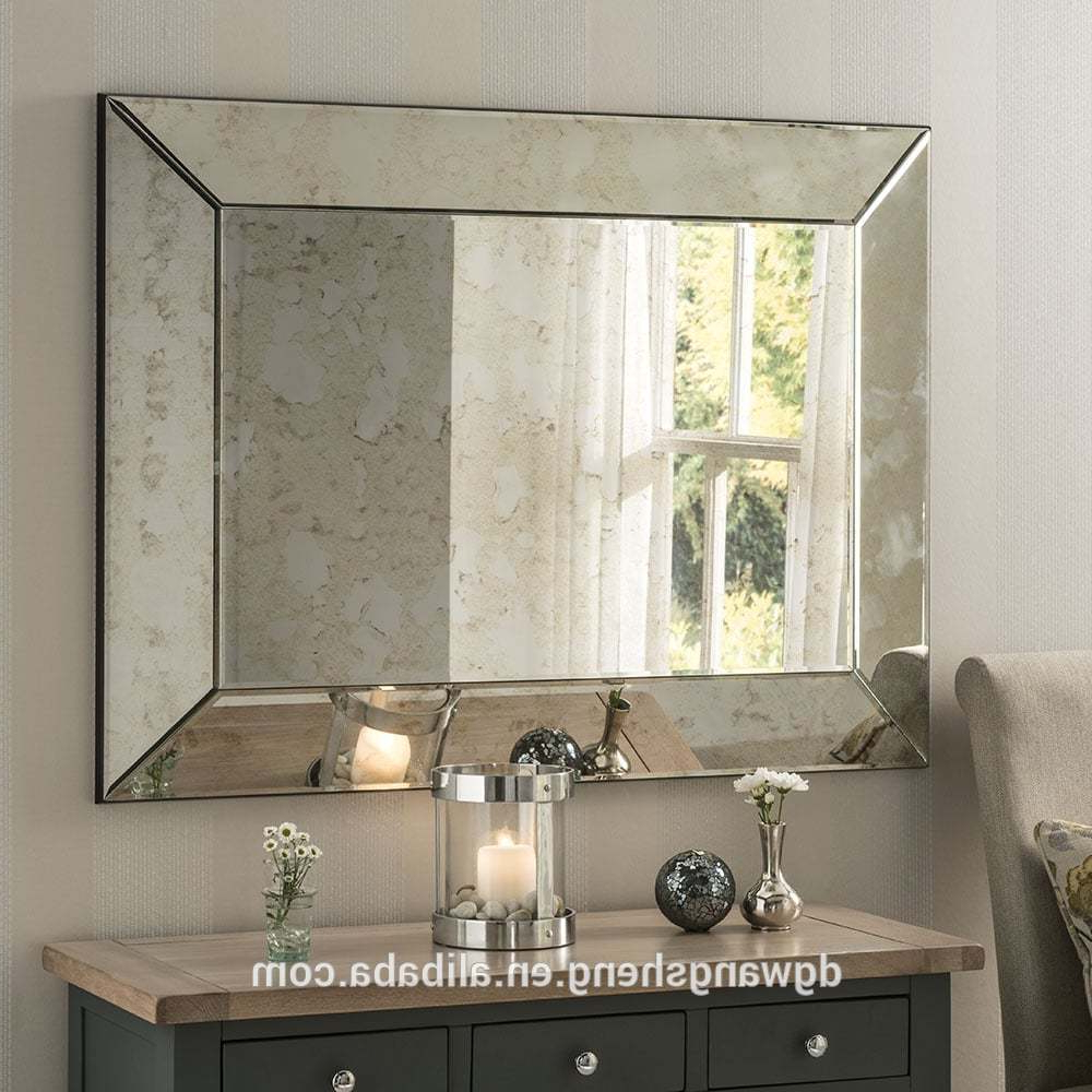 Most Up To Date High End Rectangle Frame Simple Antique Classic Decorative Wall Mirror, View Living Room Wall Mirror, Wangsheng Product Details From Dongguan Within High End Wall Mirrors (View 20 of 20)