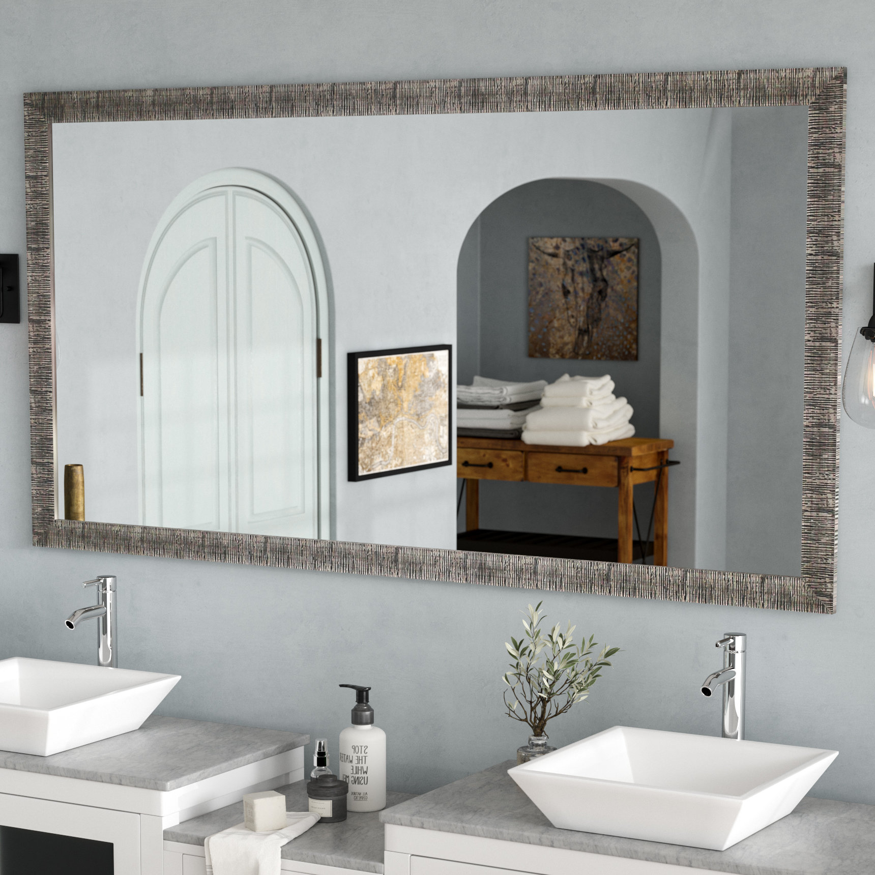 Most Up To Date Hilde Traditional Beveled Bathroom Mirrors For Eisen Bathroom/vanity Mirror (View 17 of 20)