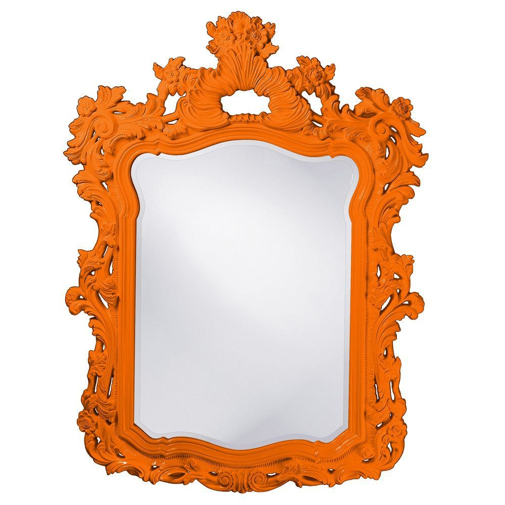 Most Up To Date Howard Elliott Turner Orange Mirror 56H X 42W X 2D – 2147O With Regard To Orange Framed Wall Mirrors (View 11 of 20)