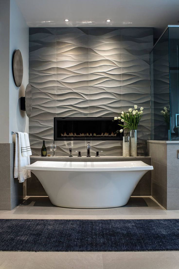 Most Up To Date Hussain Tile Accent Wall Mirrors With Regard To Bathroom Tile Idea – Install 3D Tiles To Add Texture To Your (View 17 of 20)