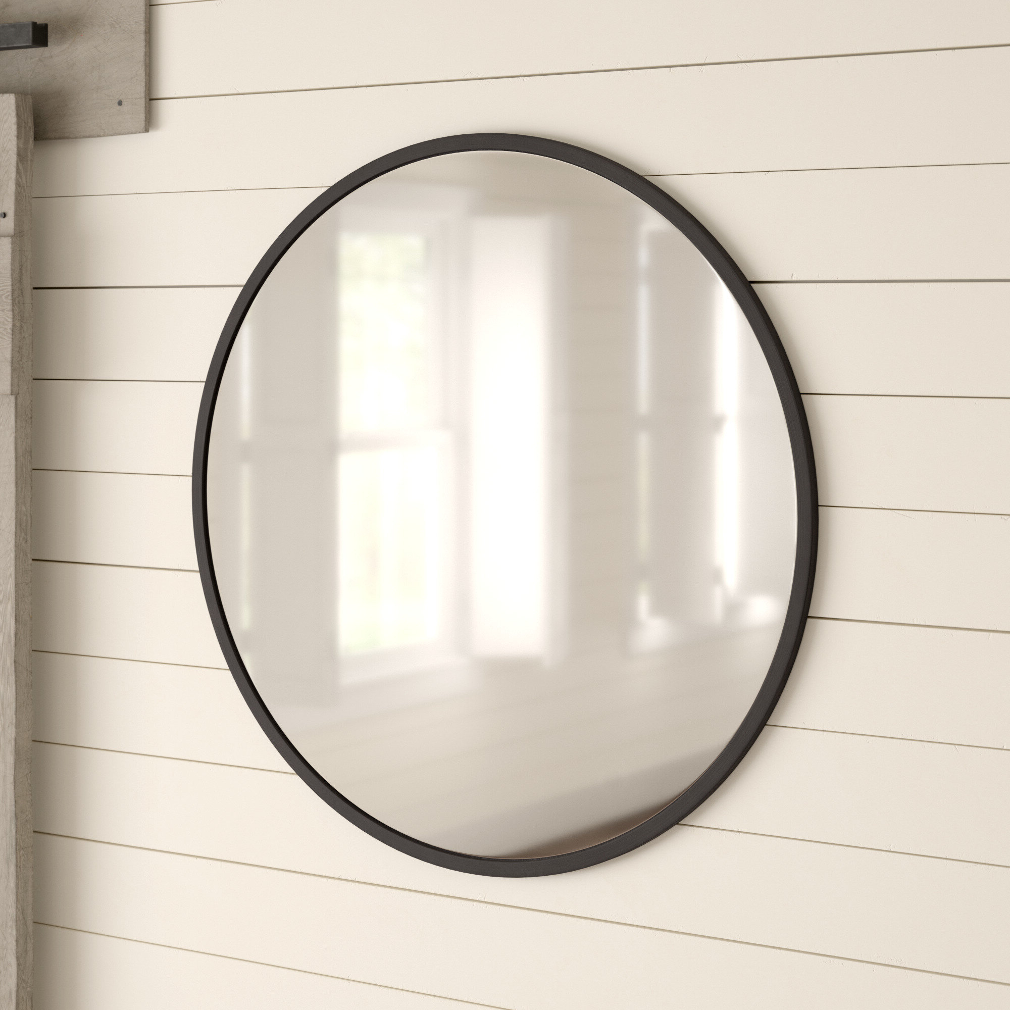 "Most Up To Date Koeller Industrial Metal Wall Mirrors Intended For Farmhouse & Rustic Large & Oversized (Over 32"" High) Wall & Accent (View 19 of 20)"
