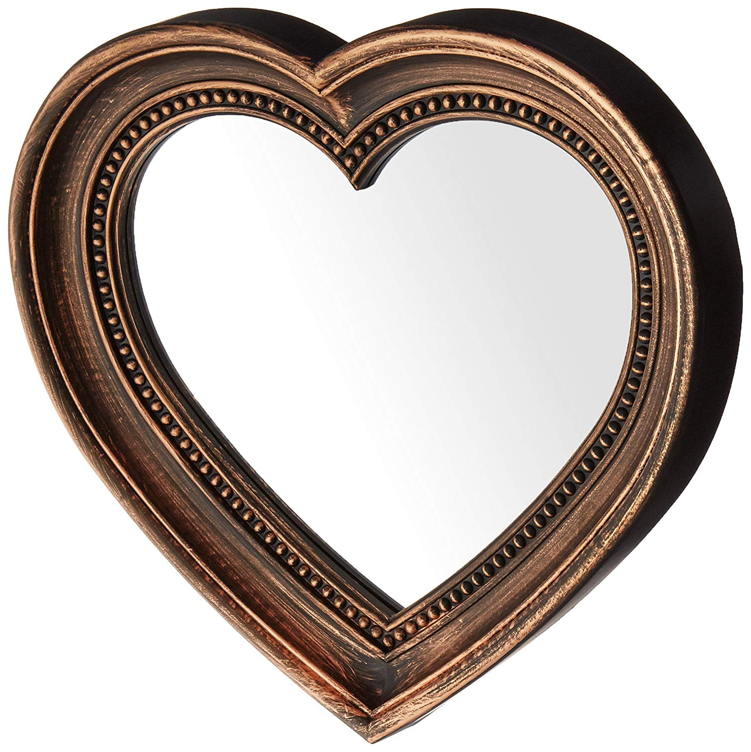 Most Up To Date Kole Of938 Wall Mirror Antique Bronze Heart Shaped Mirror Intended For Heart Shaped Wall Mirrors (View 5 of 20)