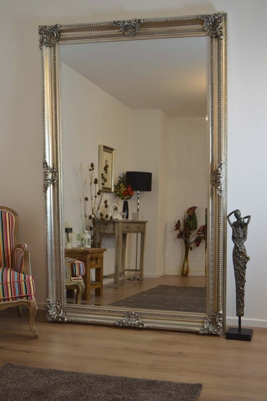 Most Up To Date Large Antique Wall Mirrors In Pinlilacyu On Furniture (View 9 of 20)
