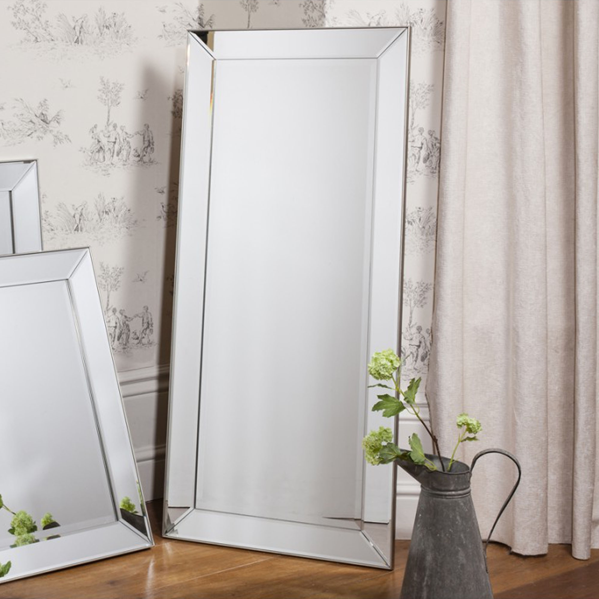 Most Up To Date Large Wall Mirrors Without Frame Pertaining To Baskin Wall Mirror (Large) (View 16 of 20)