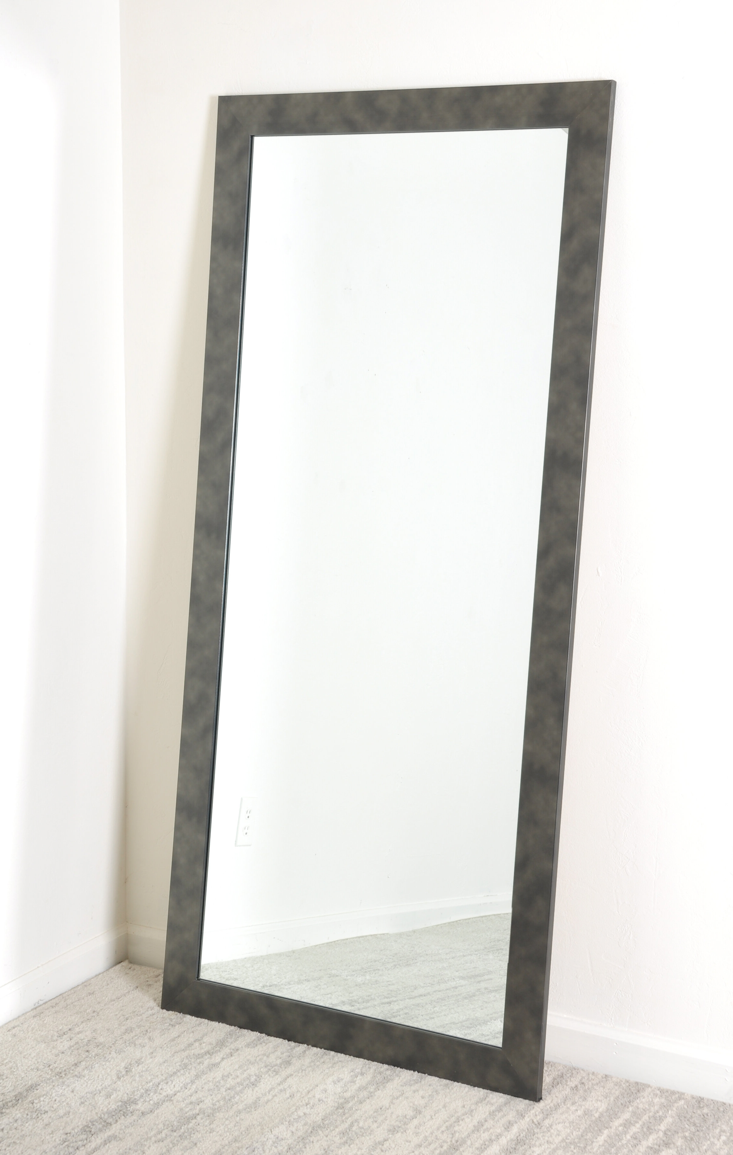 Most Up To Date Leaning Wall Mirrors Inside Brandt Works Llc Clouded Gunmetal Leaning Wall Mirror (View 2 of 20)